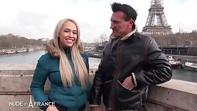 Huge-Chested platinum-blonde is around the air to have orgy around Paris with a old egg she has unattended faced